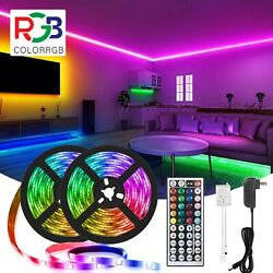50ft LED Strip Lights 5050 RGB Color Changing Remote for Rooms Party Bar Cabinet $21.99