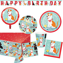 Puppy Dog Birthday Party Supplies and Decorations Kit : Bundle Includes Plates $51.99
