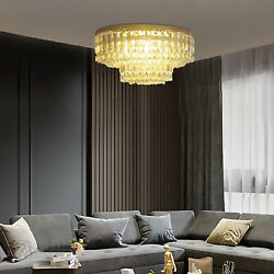 16#x27;#x27; Luxury Crystal Round Ceiling Light Chandelier Sparkling Pendant Lamp $69.01