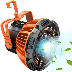 Camping Fan With Led Lantern Rechargeable Portable Tent Fan With Remote Control $19.99