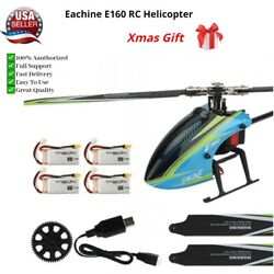 NEW Eachine E160 V2 6CH Dual Brushless 3D6G System Flybarless RC Helicopter BNF $254.90