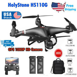 Holy Stone HS110G GPS RC Drones with 1080P Camer Wifi FPV Quadcopter 2 Battery $119.00