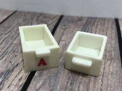 Calico Critters Replacement Parts Drawers Beige With Red A School Dresser Desk $4.00