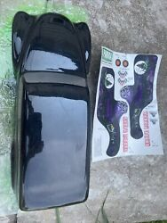 vintage rc nitro RARE grave digger parma body with decal sheet Traxxas Hpi Losi $40.00