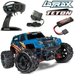 NEW Traxxas LaTrax Teton 1 18 4WD RTR RC Monster Truck BLUE w BATTERY amp; CHARGER $149.95