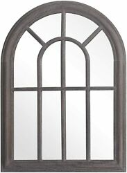 Arched Decorative Torched Wall Mirror Hanging Wall Mount Rustic Frame Farmhouse $51.69