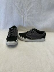 Vans Off The Wall Girls Boys Black grey Shoes size 3.5 Y $18.00