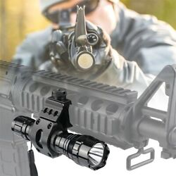 L2 LED Tactical Flashlight Rechargeable Battery Rail Mount 5Modes Hunting Light $17.99