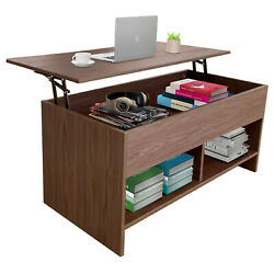 Lift Top Coffee Table Modern Table Air Rod Pop Up Tabletop $91.99