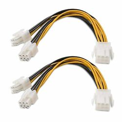 Cable Matters 2 Pack 6 Pin PCIe Splitter Cable PCIe Power Splitter 6 Inches $8.00