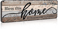 Tiancentral Home Sign Wall Decorations for Living Room Bless This Home with Lo $20.99