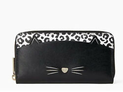 kate spade meow cat large continental wallet NWT FREE SHIPPING $184.99