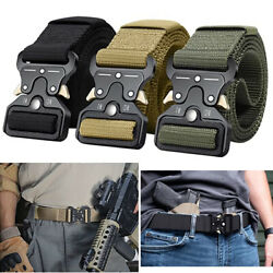 MEN Casual Military Belt Tactical Army Adjustable Police Quick Release Belts USA $8.99
