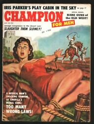 Champion For Men #3 8 1959 Incredible bondage cover Death Song of Cherokee. C... $193.75