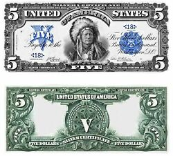 Reproduction 1899 INDIAN $5 Silver Cert Limit 6 per customer First time buyers $0.99