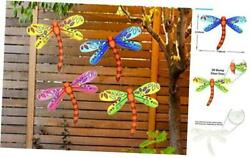 3D Metal Dragonfly Wall Accents Dragonfly Wall Decor Sculpture Hang Outdoor $32.42