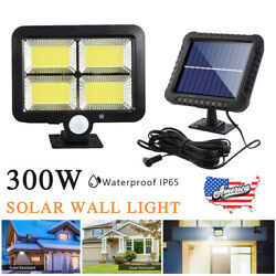 Outdoor Commercial Solar Street LED Light Waterproof Dusk to Dawn Wall Lamp IP65