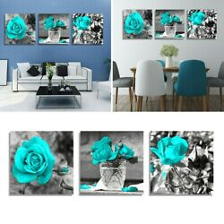 For Bedroom Wall Paintings Hanging 3PCS Flower Pictures Home Decor New C $23.93
