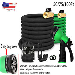 Durable Lightweight Expandable Flexible Garden Water Hose with Nozzle amp; Hanger $24.99