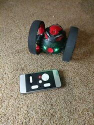 Rechargeable Remote Control Jumping Bounce Car Black Flips Spins amp; Trick Fun Toy $45.00