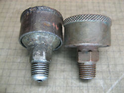 2 Grease Cup Pat 1893 TIGER 0 AMSTMP Co Battle Creek Mich. Model T A old parts $40.00