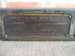 Vintage Simmons uni pole Magnetic Chuck Cover amp; Brass Name Plate old parts $25.00