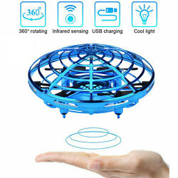 Mini Drone Hand Operated UFO Levitation LED RC Helicopter Kids Flying Toys $19.99