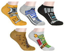 Star Wars Socks Adult Character Costume Cosplay 5 Pair Mix n Match $12.85