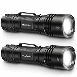 GearLight LED Tactical Flashlights Pack of 2 Bright Zoomable Handheld Fla... $21.46