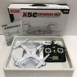 Syma X5C 1 Explorers RC Quadcopter Drone with HD Camera 2.4G 4CH 6 Axis LCD Gyro $29.99