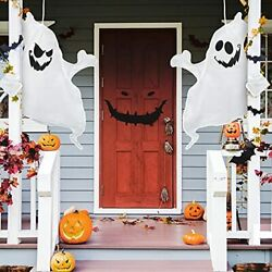 Halloween Hanging Ghost Decoration Outdoor Decor 2 Pieces 45 Inch White $9.41