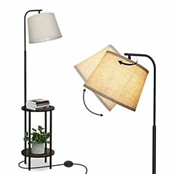 DEWENWILS 62 inch Floor Lamp with Table Attached Nightstand with Built in Lam... $104.92