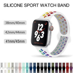 Silicone Sports iWatch Band Strap for Apple Watch Series 6 5 4 3 2 1 SE 38 44mm $4.59