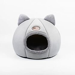 """Pet Beds for Cats Anti Slip amp; Water Resistant Bottom Calming Cat (14""""x14""""x16"""") $36.38"""