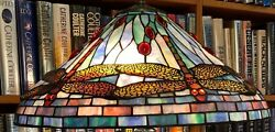 Antique Tiffany Studios Reproduction Dragonfly Leaded Glass Lamp Shade Handel $1450.00