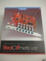 Inateck PCIe to USB 3.2 Gen 2 Expansion Card 20Gbps Bandwidth Wide Compatibility $24.99