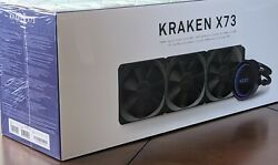 NZXT Kraken X73 360mm AIO Liquid Cooler with RGB Factory Sealed $140.00