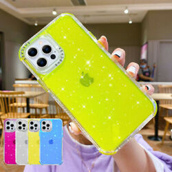 For iPhone 13 Pro Max 12 Pro Case Bling Glitter Clear Shockproof Bumper Cover $4.88