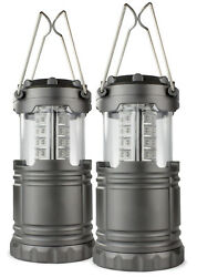 2 Pack Portable Outdoor LED Lantern Camping Lanterns Water Resistant Emergency $12.50