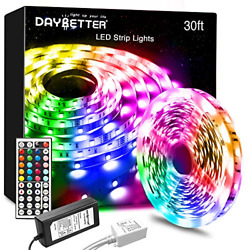 DAYBETTER Led Lights 30ft Strip with Remote and M Multicolor