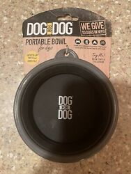 DOG FOR DOG Travel Collapsible Foldable Reusable Bowl Dish for Food amp; Water 12oz $12.00