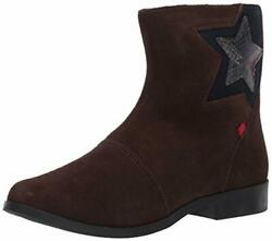 Marc Joseph New York Girl#x27;s Leather Made in Brazil Star Ankle Boot Brown Sued... $32.51