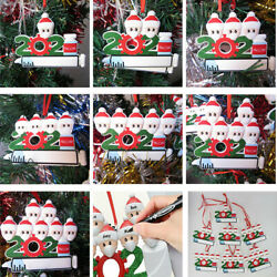 Diy Personalized 2021 Christmas Tree Ornaments Mask Vaccine Hanging Family Gifts $3.99