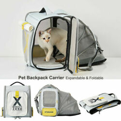 PETKIT Pet Portable Cat Carrier Backpack Foldable Travel Small Dog Mesh Bag Tent $49.95