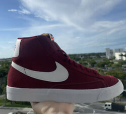 NIKE Blazer Mid '77 Suede Team Red White CI1172 601 Shoes Mens Size 10 US NEW $65.00