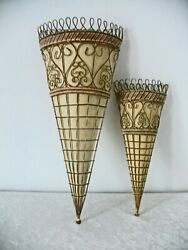 Pair Vintage Wall Sconce for dried grasses flowers $18.99