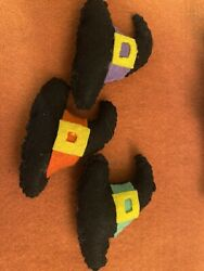 HANDCRAFTED 3 PK HALLOWEEN WITCH'S HAT CAT TOYS W CATNIP $1.75
