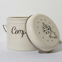 Kitchen Compost Bin Countertop Food Wastes Compost Bucket Coal Filter for Food C $43.35