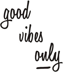 Good Vibes Only Polka dots Wall Decal Wall Stickers Inspirational Motivational S $11.99
