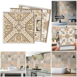 20pcs Retro Self adhesive Mosaic Tile Wall Stickers For Kitchen And Bathroom C $22.29